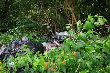 plastikmuell in der natur