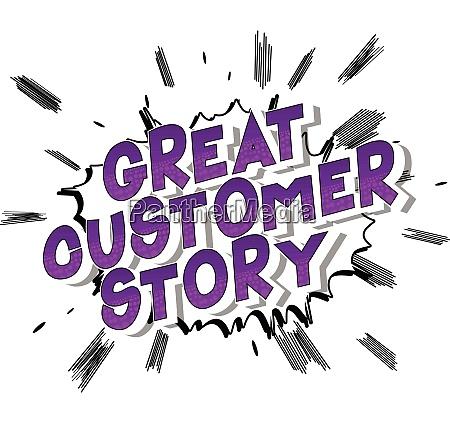 great customer story comic buch stil