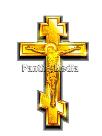 christliche kreuz kreuzigung jesus goldene heilige