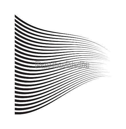 perspektivische geschwindigkeits bewegungslinien wavonschwingenfoermig horizontaler comic