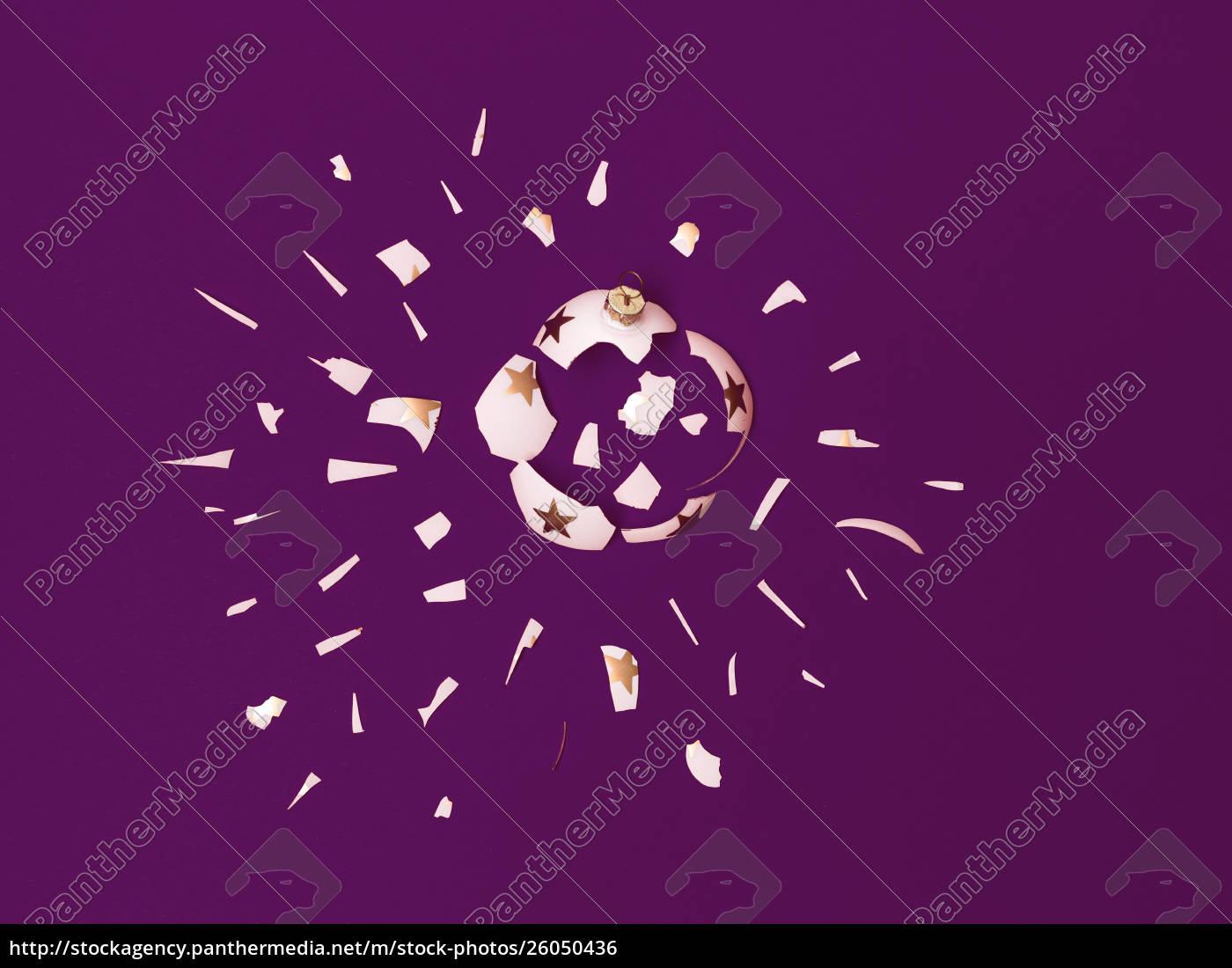 große, explodierende, weiße, kugel, mit, goldenen - 26050436