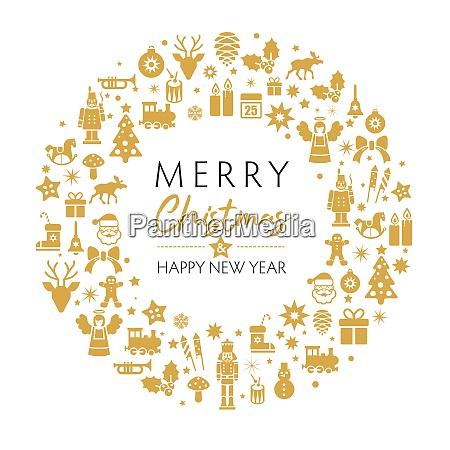 weihnachts und neujahrsgruesskarte