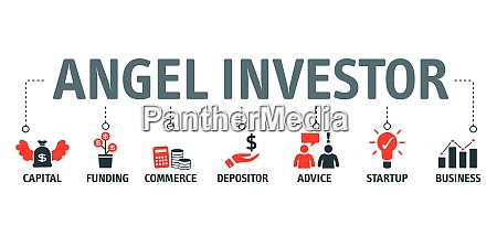 angel investor concept vektorillustration