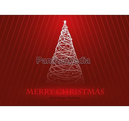 grusskarte mit stilisiertem weihnachtsbaum