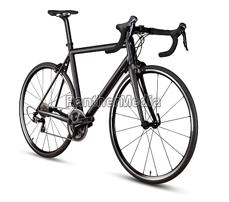 schwarzer rennsport rennrad rennrad isoliert auf
