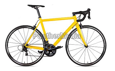 gelb schwarzer rennsport rennrad radfahrradrennfahrer isoliert