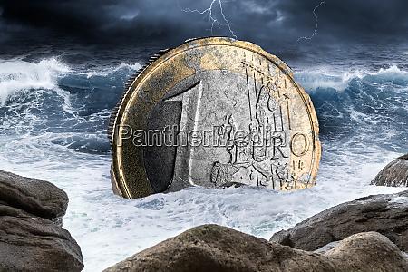 euro europaeische waehrungs krisen konzept