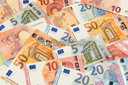 euro banknote waehrungsfinanzierungshintergrund