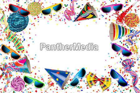 buntes fest karneval geburtstagsfeier hintergrund