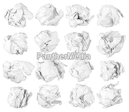 isolierte papierkugeln