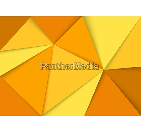 abstract yellow triangles mosaic background
