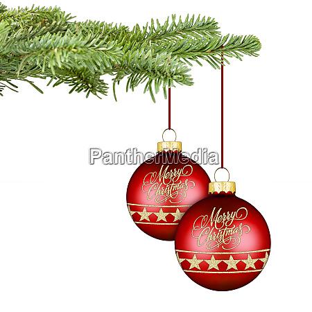 froehliche weihnachtskugeln