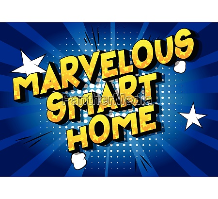 marvelous smart home comic book