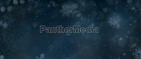dark blue winter background with snow