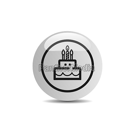 birthday icon in a button on