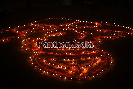diwali lamps decoration