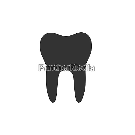 isolated tooth flat icon on a