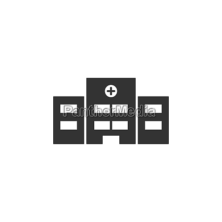 hospital icon on a white background