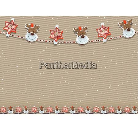 weihnachtlicher hintergrund mit dekoration