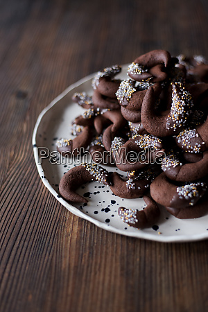 chocolate cookies christmas winter table