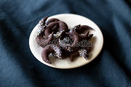chocolate cookies christmas winter table