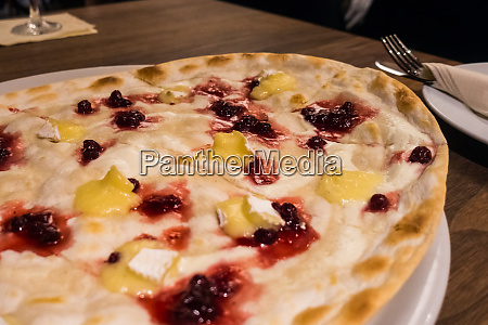 german berry white cheese flammkuchen restaurant