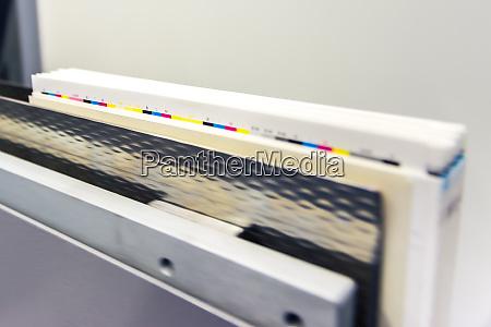 passing book binding cmyk strip control