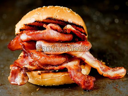 englisch speck butty sandwich
