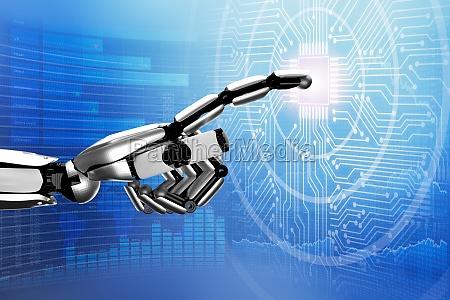 roboter beruehren digital circuit board