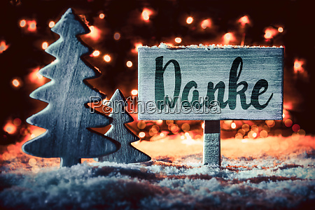 sign tree calligraphy danke mean means