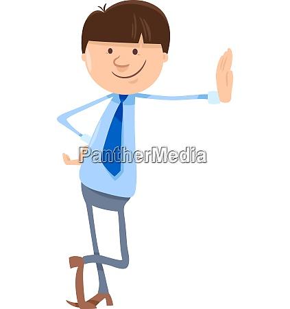 man or businessman cartoon character