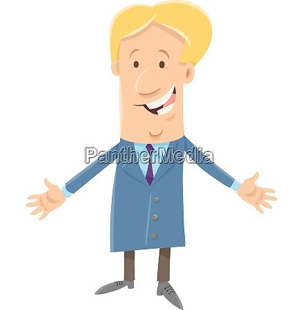 happy boss businessman cartoon character