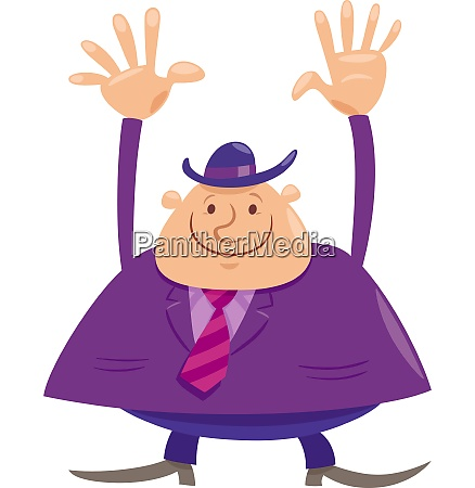 happy man or businessman cartoon character