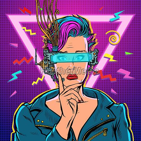 denker vr brille frau gamer virtual