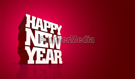 vector happy new year design