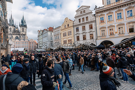 weihnachtsadvent markt am altstaedter platz prag