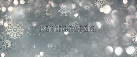 silver stars christmas background
