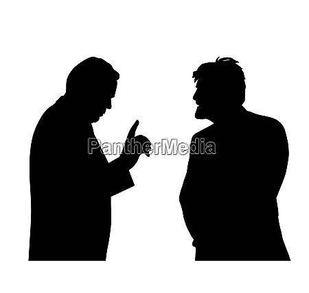 two businessmen talking about a business