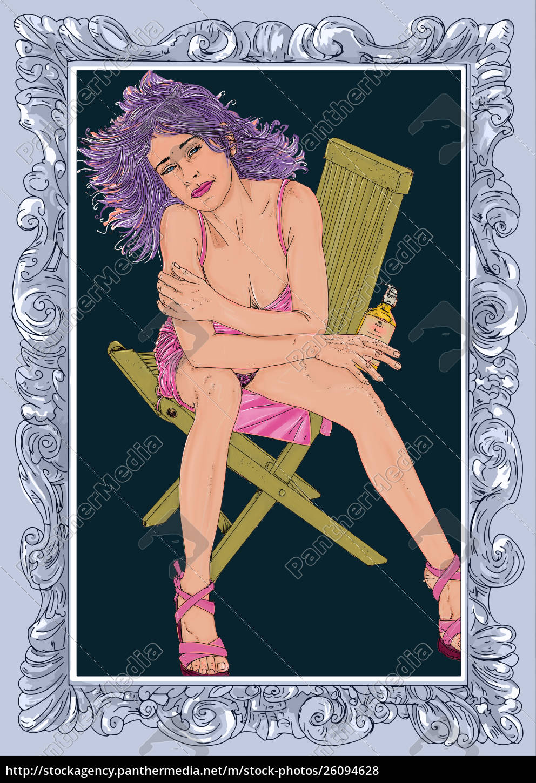 , frau, erotik, raffinierte, und, sinnliche, linie - 26094628