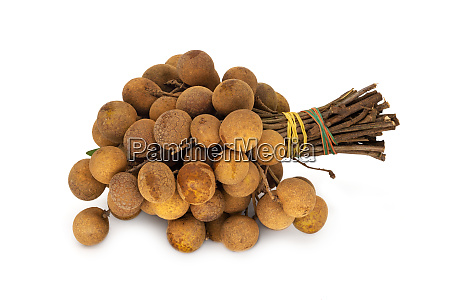 longan fruit on white background