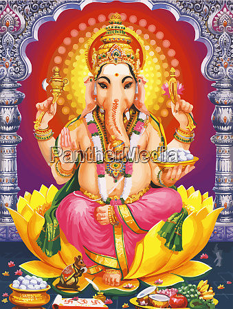 ganesha hindu tempel herr glaube mythos