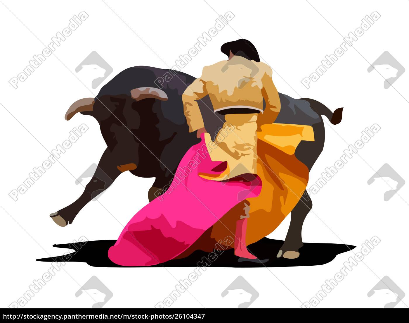 spanische, stierkampfpflege-kultur-kultur, zeigen, illustration - 26104347