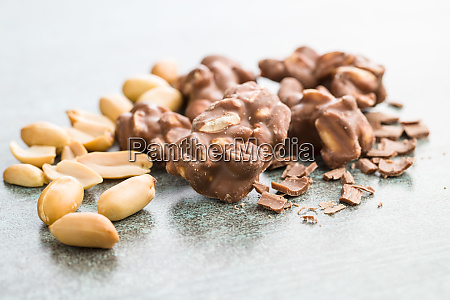 peanuts covered chocolate