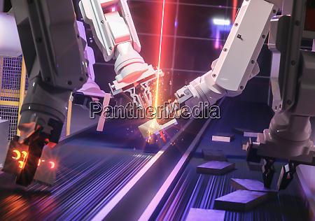 roboter der smart automation industrie im