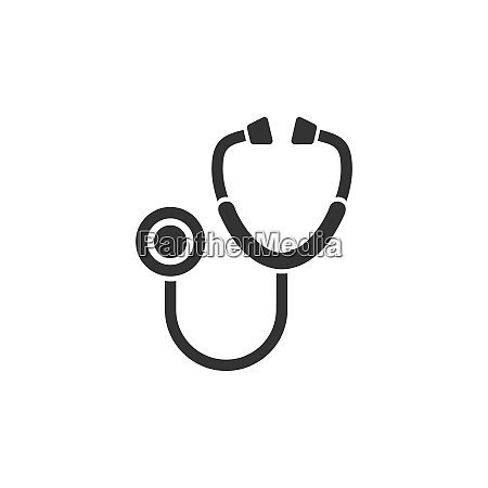 stethoscope flat icon on a white