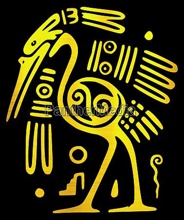 maya civilization aztec bird animal