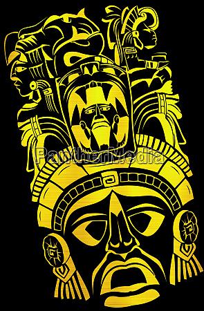maya aztec civilization tribal cult mask