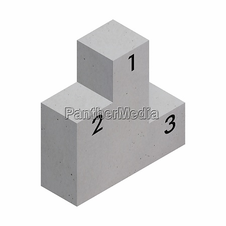 betonpodest mit 12 und 3 platz