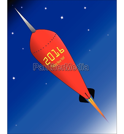 happy new year rocket 2016