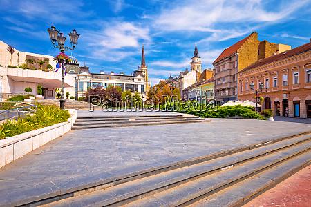 novi sad square and architecture street